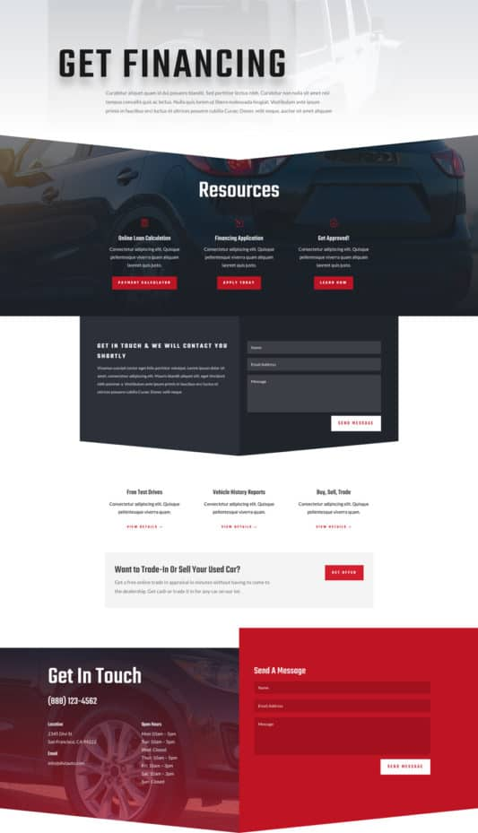Car Dealer Web Design 3