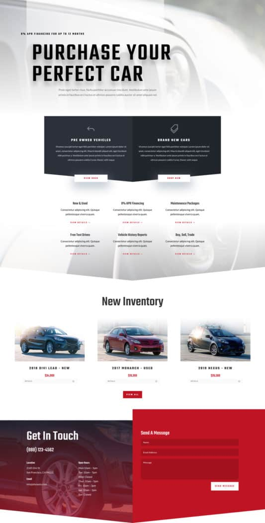 Car Dealer Web Design 4