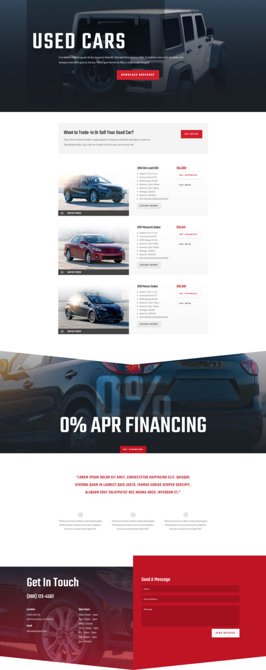 Car Dealer Web Design 7