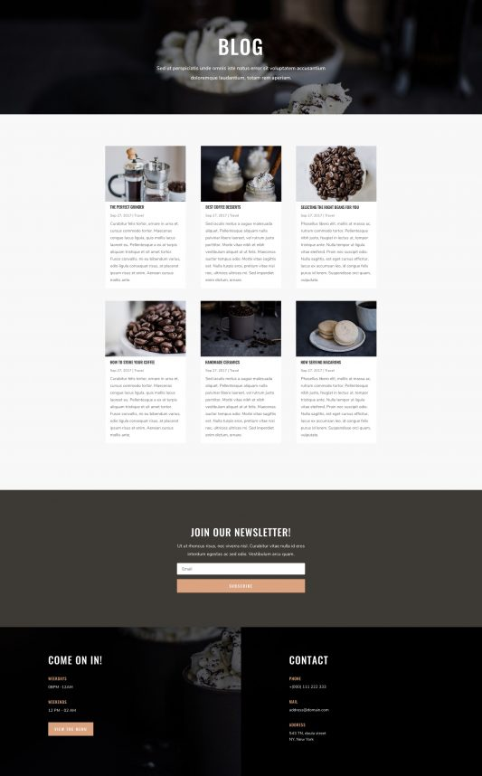 Coffee Shop Web Design 2