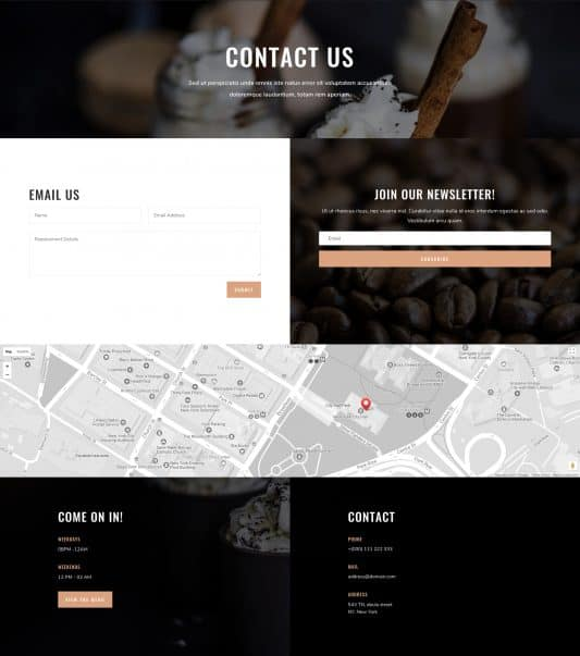 Coffee Shop Web Design 3