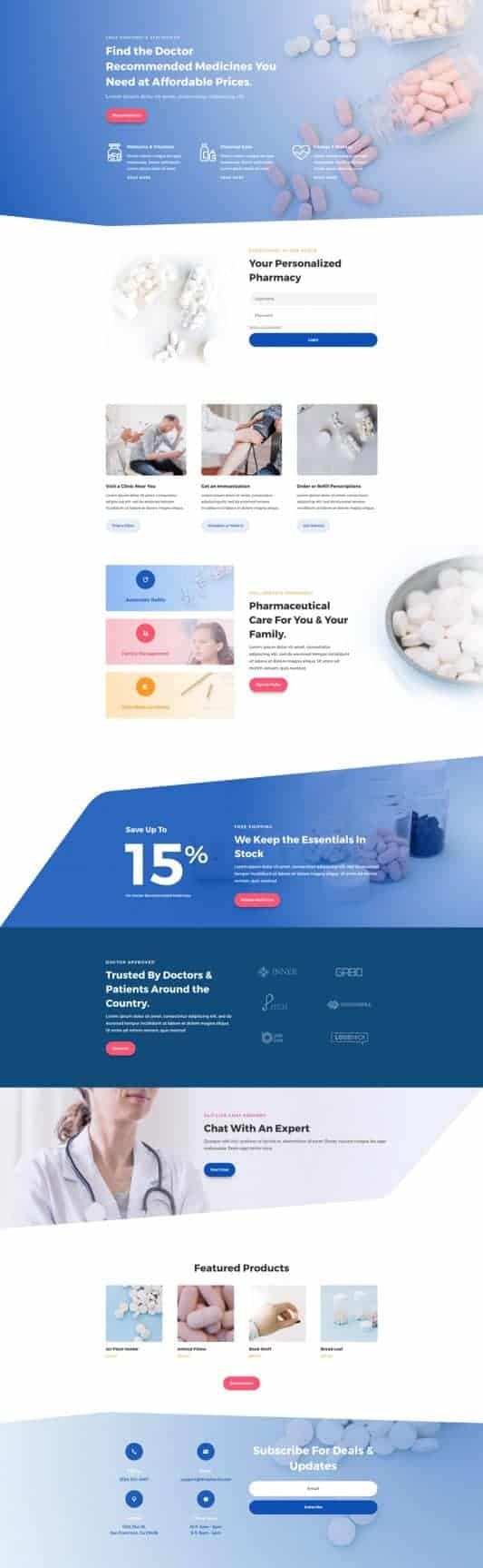 The Pharmacy Page Style: Homepage Design 1