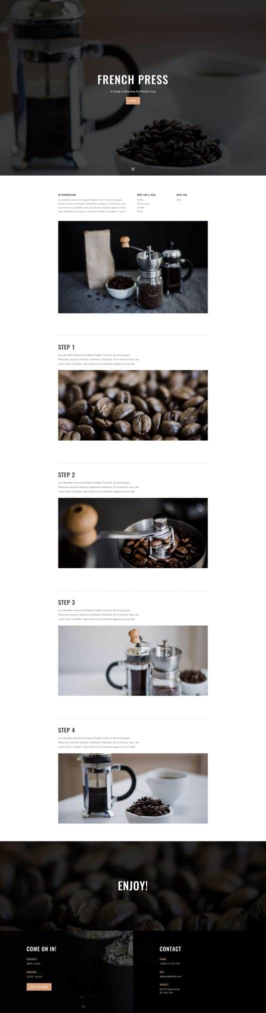 Coffee Shop Web Design 4