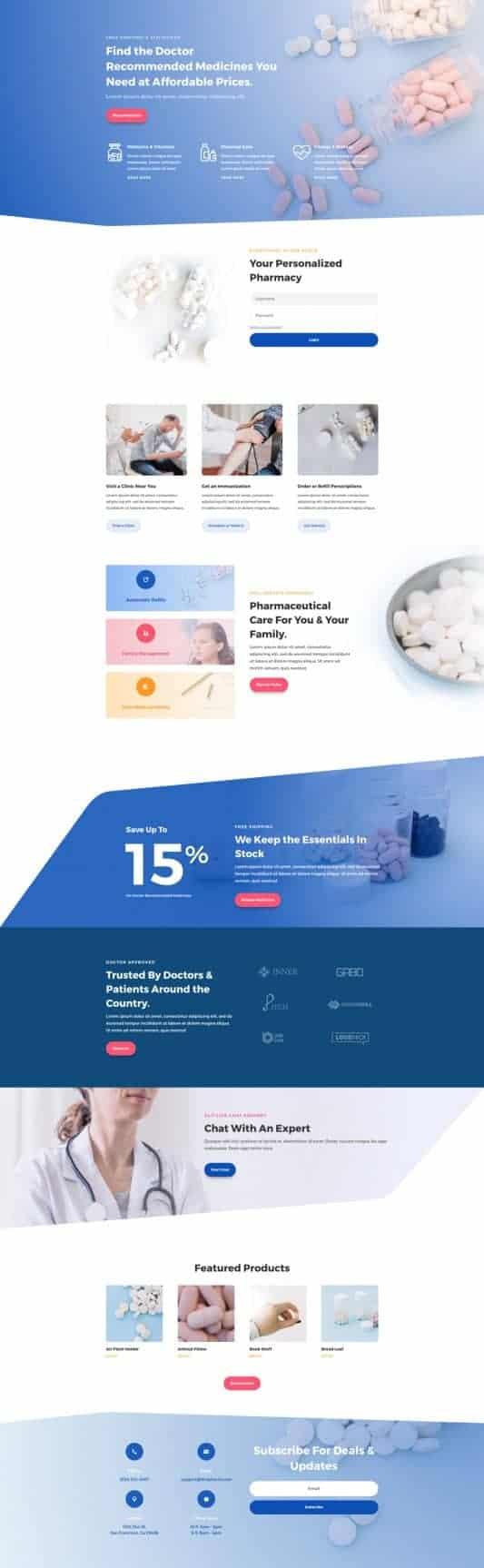 Pharmacy Web Design 4