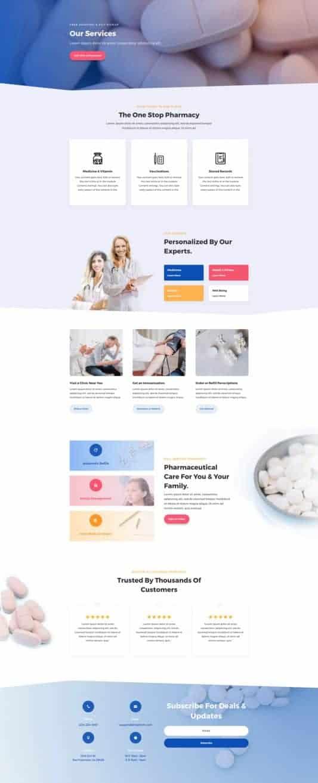 Pharmacy Web Design 5