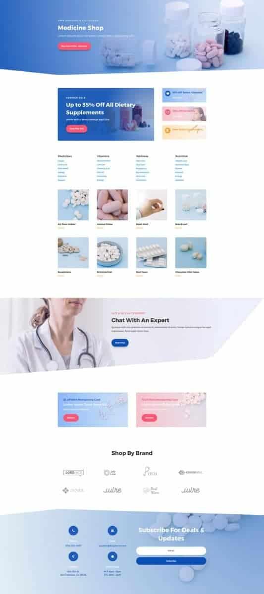 Pharmacy Web Design 6