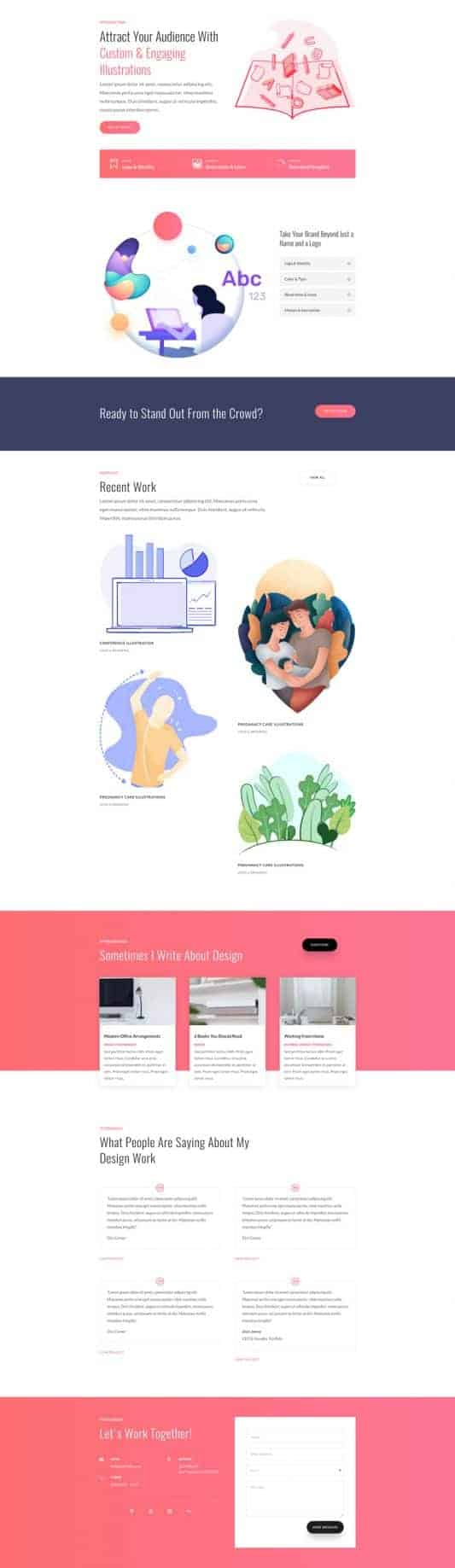 The Graphic Illustrator Page Style: Homepage Design 1