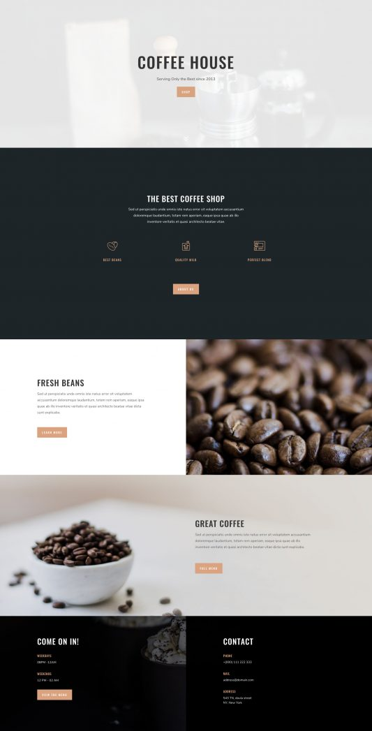 Coffee Shop Web Design 5
