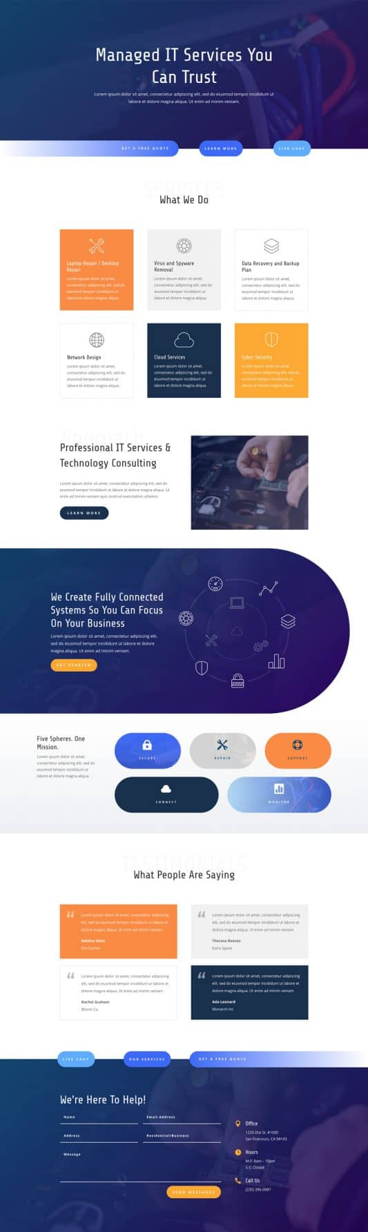 The IT Services Page Style: Homepage Design 1