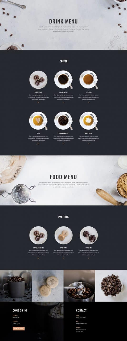 Coffee Shop Web Design 7