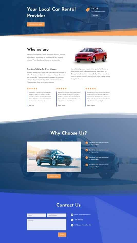Car Rental Web Design 1