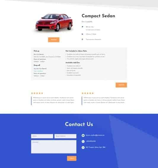 Car Rental Web Design 5