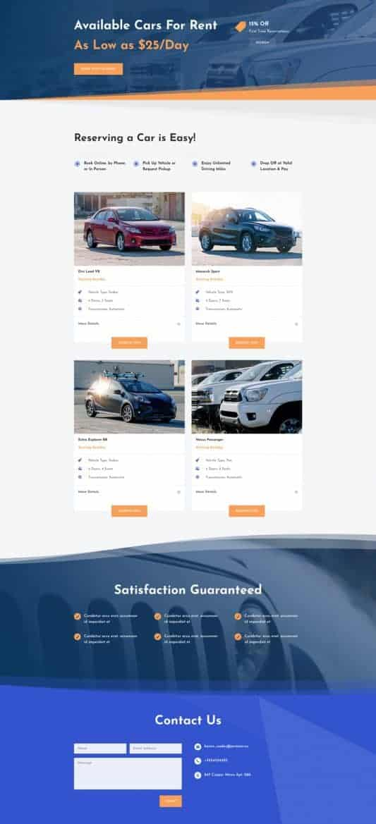Car Rental Web Design 6