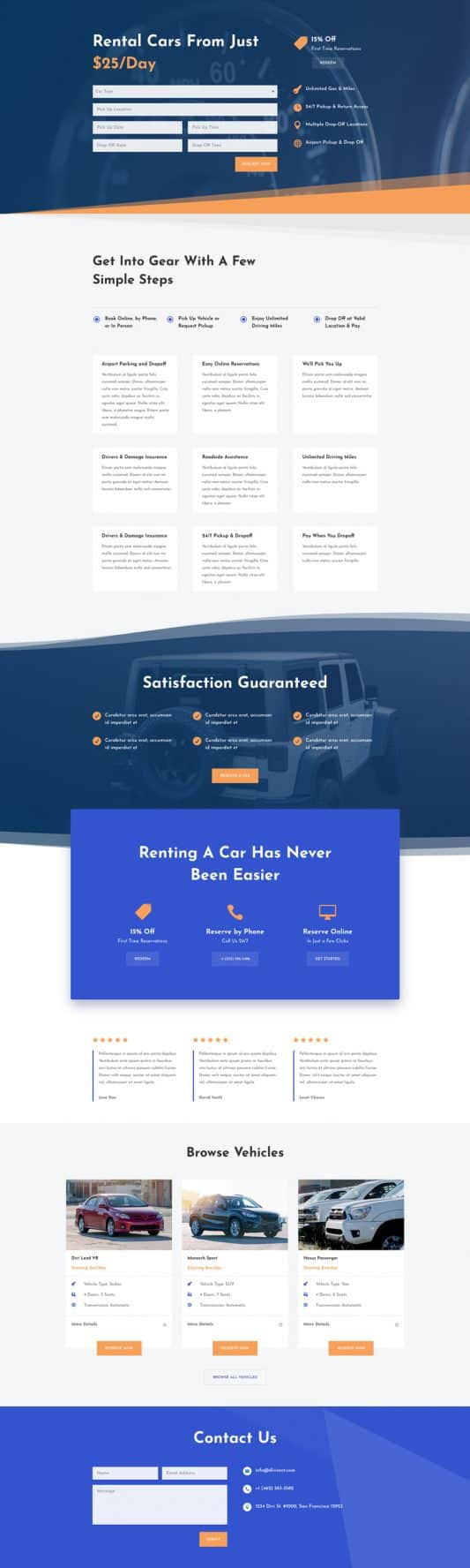 Car Rental Web Design 7