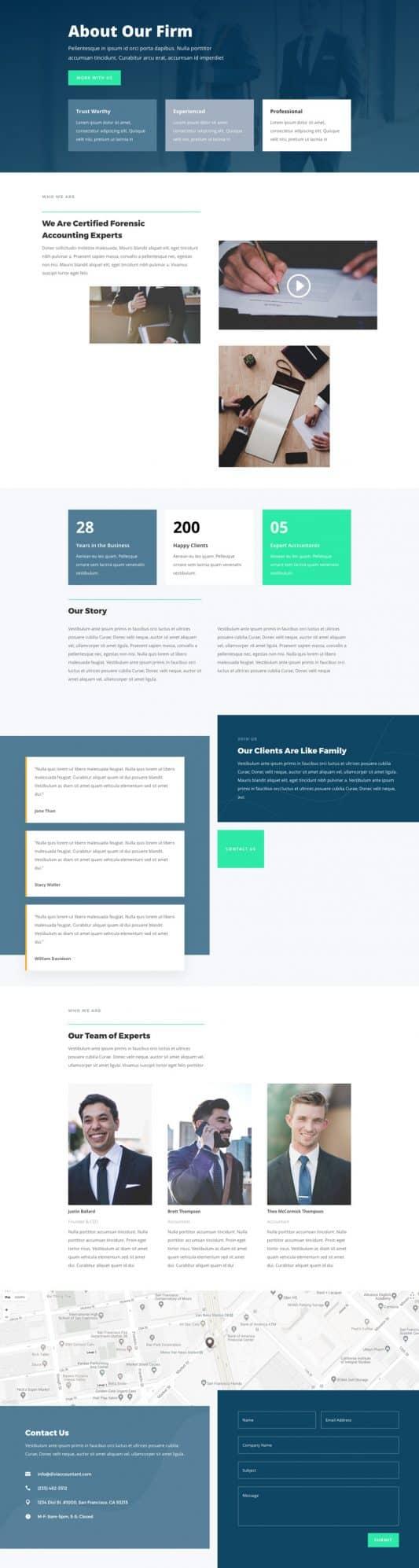 Accountant Web Design 1