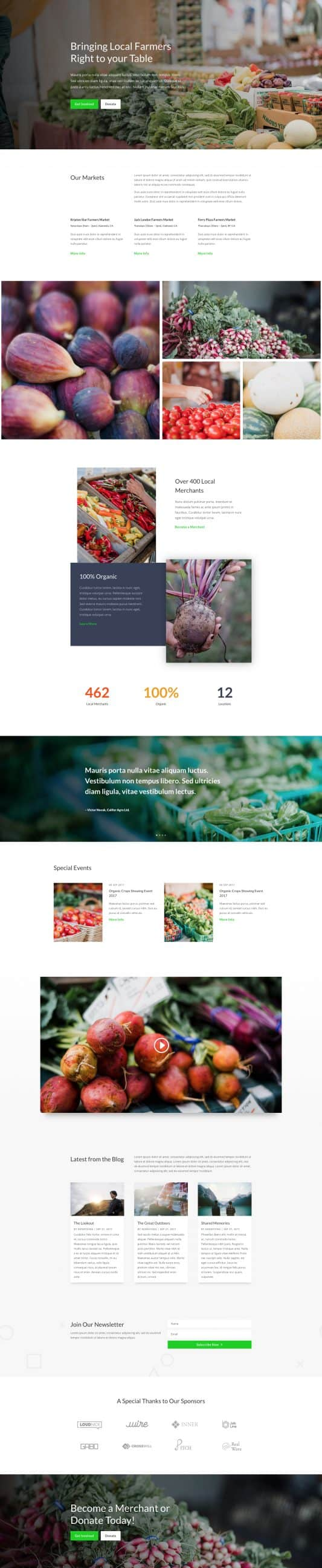 The Farmers Market Page Style: Homepage Design 1