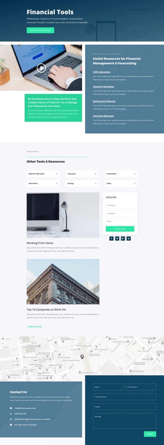 Accountant Web Design 7