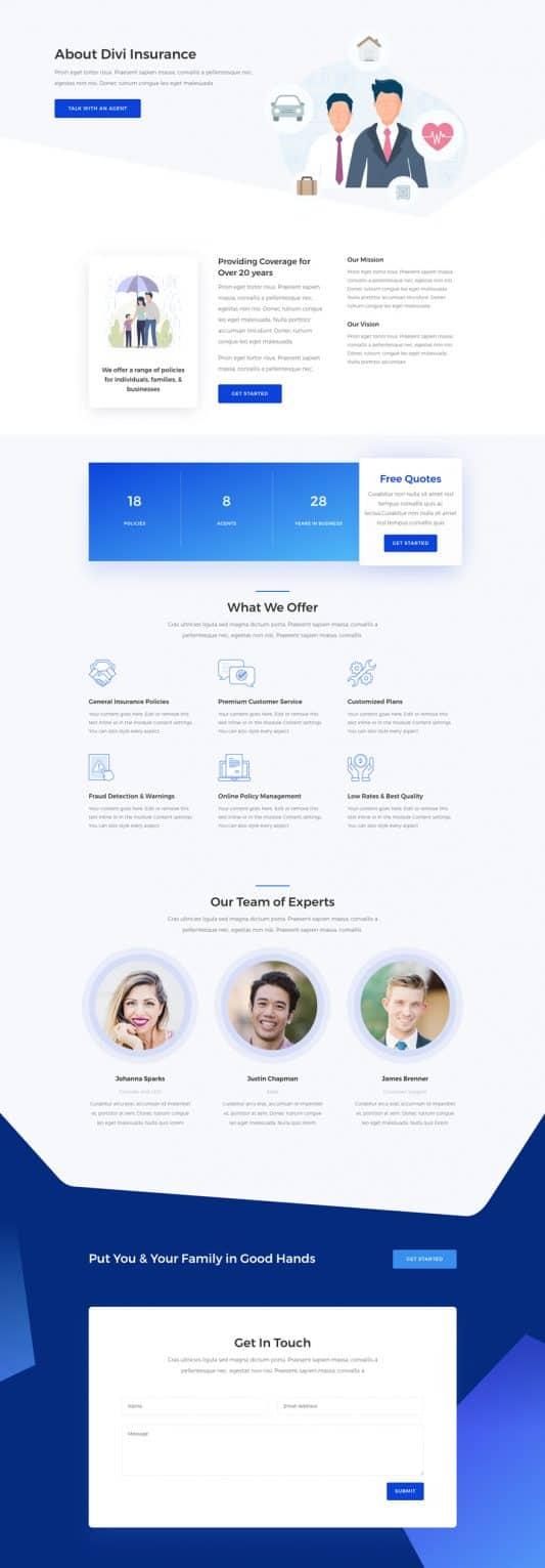Insurance Agency Web Design 1