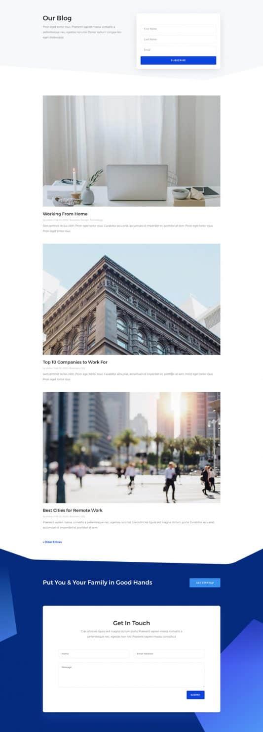 Insurance Agency Web Design 2