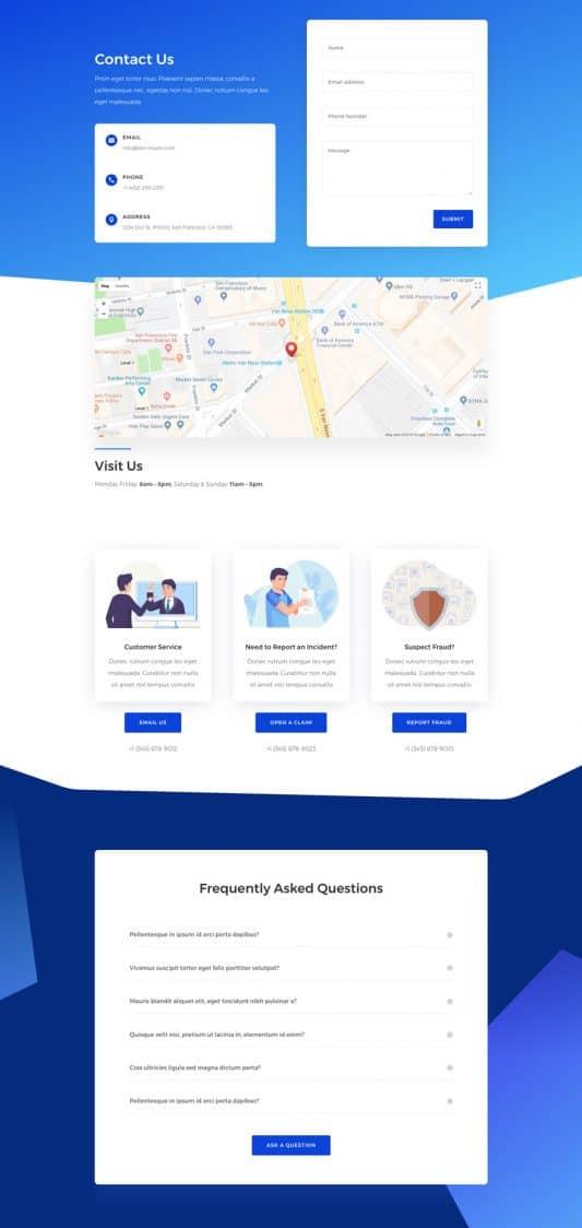 Insurance Agency Web Design 3