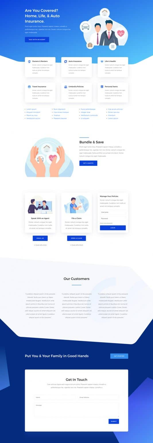 Insurance Agency Web Design 4