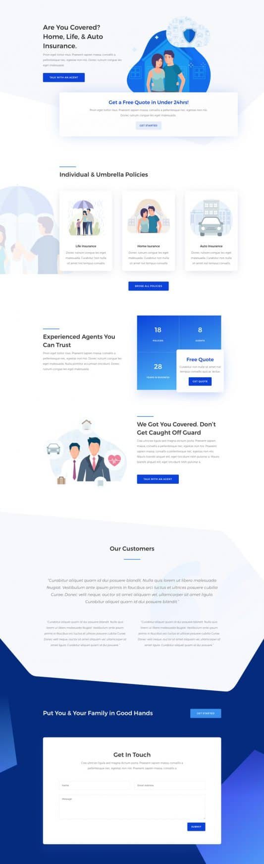 Insurance Agency Web Design 5