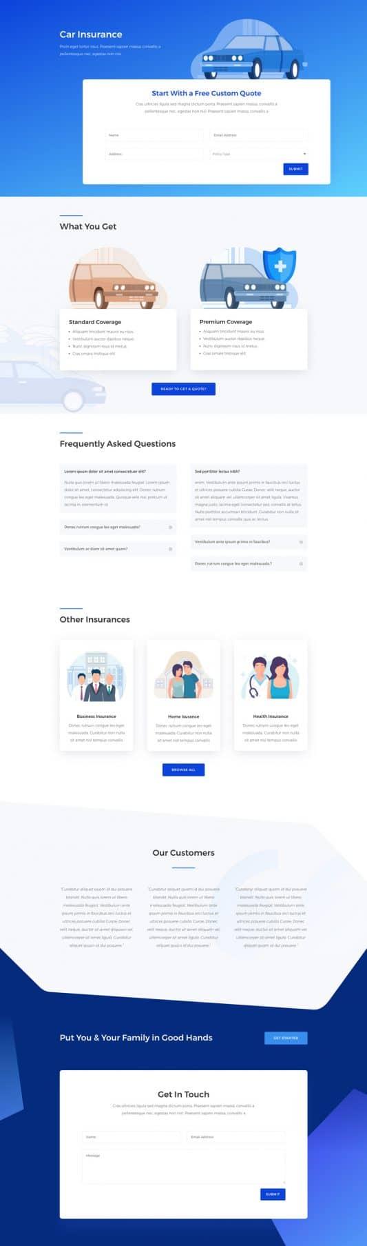 Insurance Agency Web Design 6