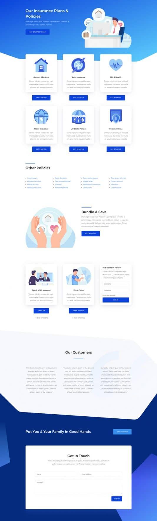 Insurance Agency Web Design 7