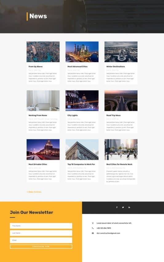 Construction Company Web Design 2