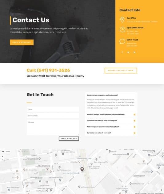 Construction Company Web Design 3