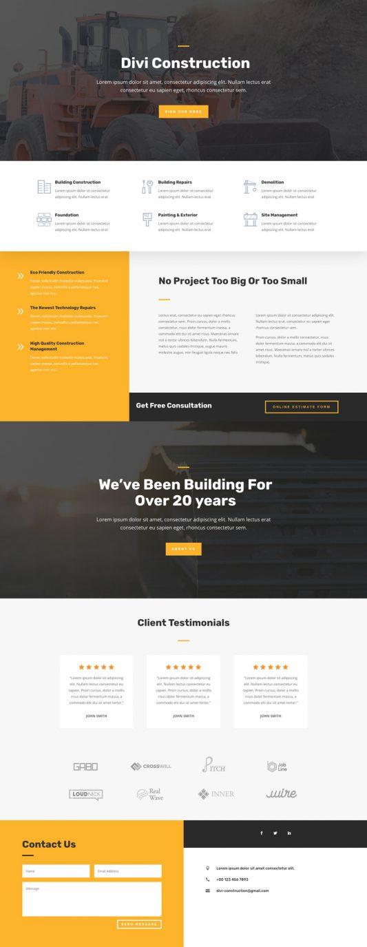 Construction Company Web Design 4