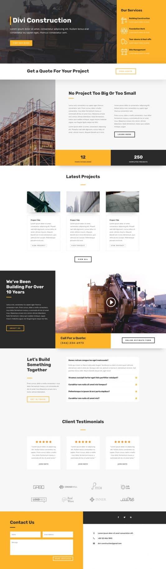 Construction Company Web Design 5