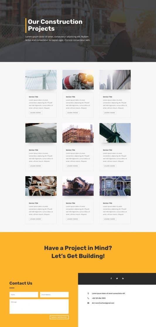 Construction Company Web Design 6