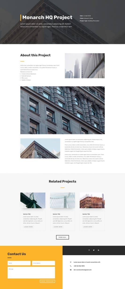 Construction Company Web Design 7