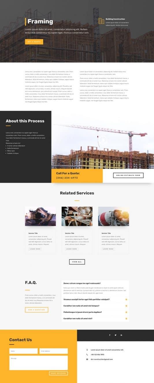 Construction Company Web Design 8