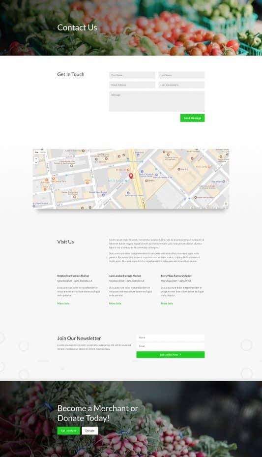 Farmers Market Web Design 3