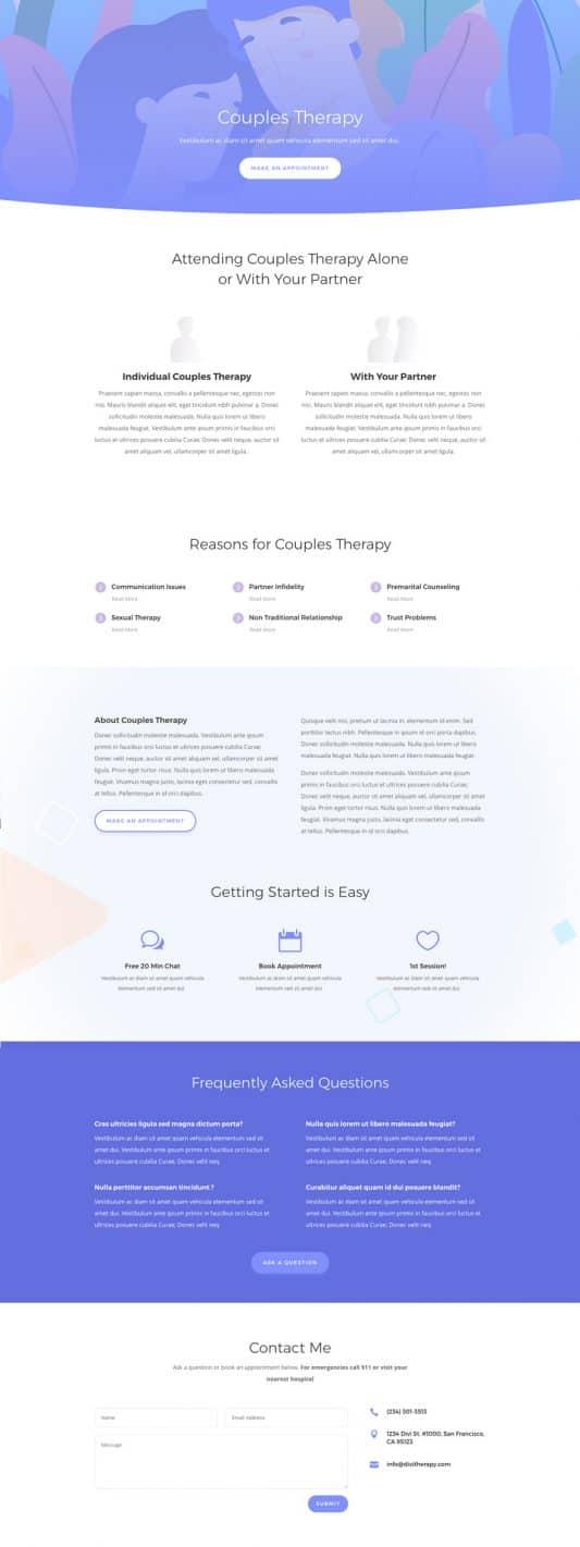 Therapist Web Design 6