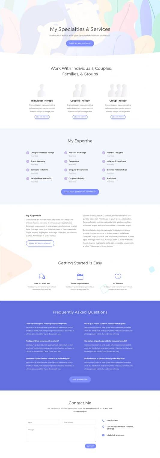 Therapist Web Design 7