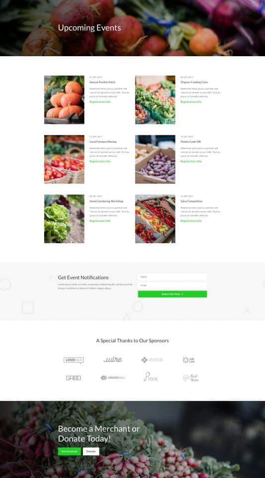Farmers Market Web Design 5