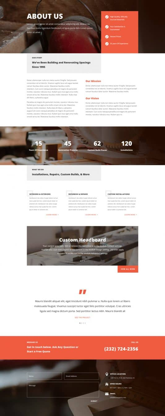 Carpenter Web Design 1