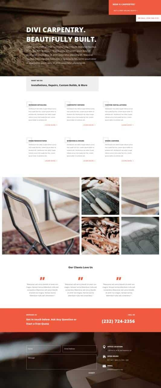 Carpenter Web Design 4