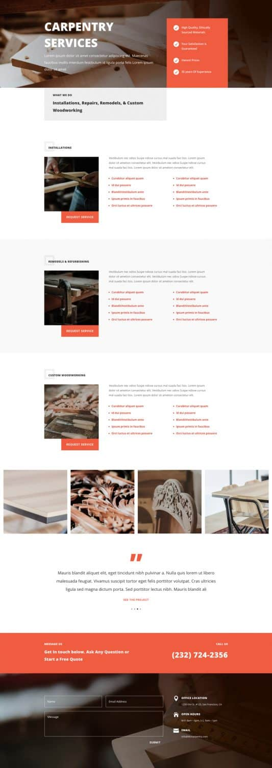 Carpenter Web Design 7