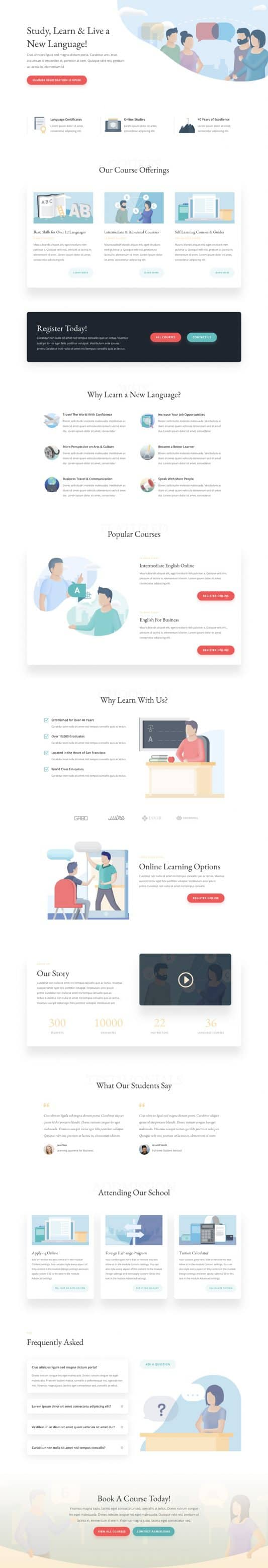 Language School Web Design 7