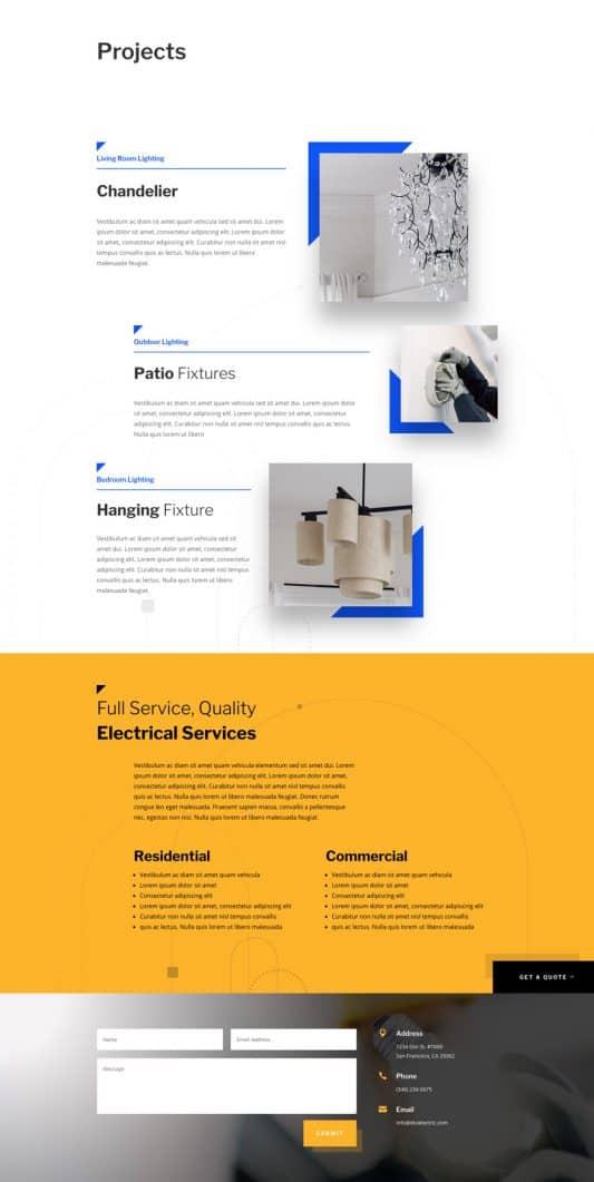 Electrician Web Design 5