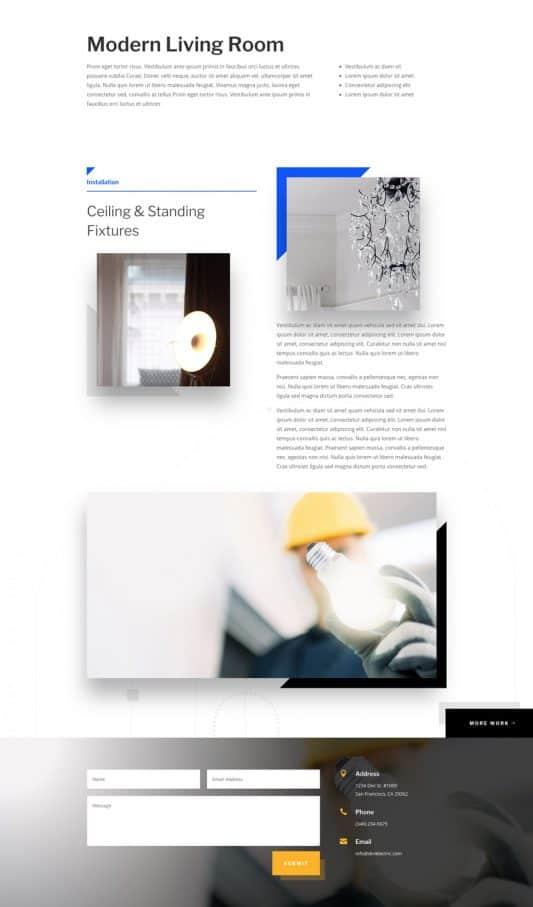 Electrician Web Design 6