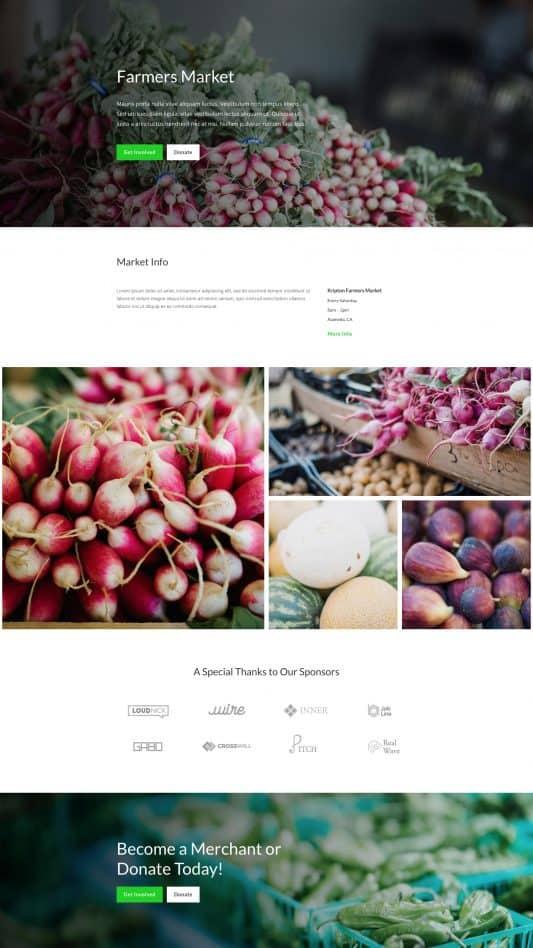 Farmers Market Web Design 6
