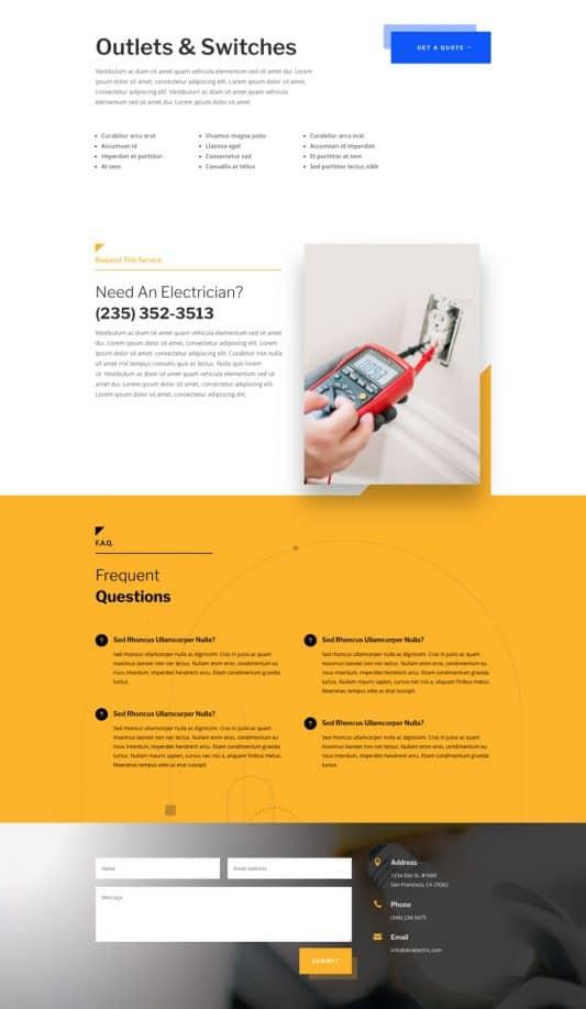 Electrician Web Design 7