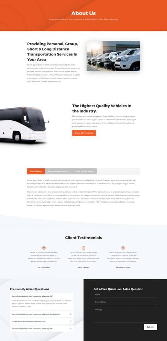 Transportation Services Web Design 1