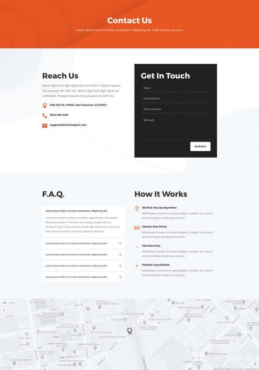 Transportation Services Web Design 2
