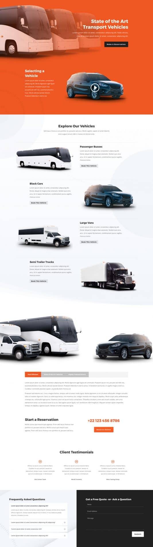 Transportation Services Web Design 6